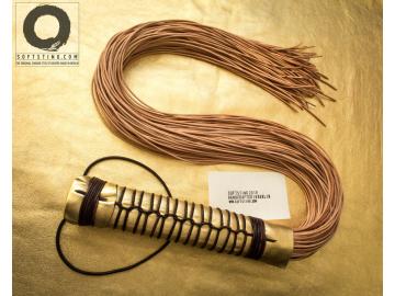 BDSM art fetish leather flogger whip, handmade shibari style, perfectly balanced, no glue: Kōsen, the Ray of Light.
