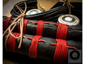 BDSM Florentine Floggers, only leather and bamboo. Unique BDSM fetish gift! 100% shibari style, perfectly balanced flogger whips,  no glue.