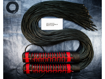 Premium Florentine Floggers. Matched BDSM leather flogger whips, perfectly balanced. Statement BDSM gear, 100% shibari style, no glue.